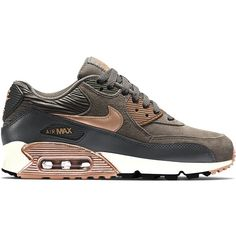 Nike WMNS Air Max 90 ($120) ❤ liked on Polyvore featuring shoes, athletic shoes, shoe club, women, nike footwear, leather footwear, genuine leather shoes, nike and retro shoes