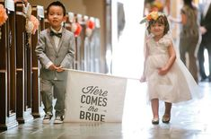 Perfect for the other kids in my wedding party Church Wedding, Our Wedding, Dream Wedding, Wedding Stuff, Destination Wedding, Wedding Wishes, Wedding Bells, Kirchen, Here Comes The Bride