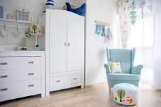 Baby room, white room, forest
