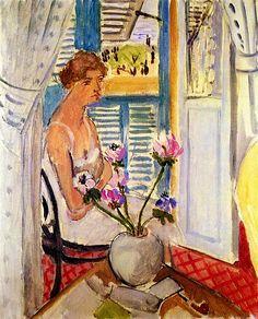 ":Woman with Flowers"": Henri Matisse - circa 1920"