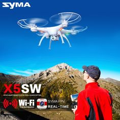 Shop now for Xmas. Syma Drone with WiFi Camera Real-time Transmit FPV Quadcopter Upgrade) HD Camera Dron RC Helicopter Rc Drone, Drone Quadcopter, Drone Remote, Drones, Camera Drone, Wi Fi, Still Photography, Aerial Photography, Toys
