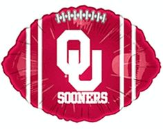 University of Oklahoma OU Sooners Crimson 18-inch Microfoil Balloon $3.50