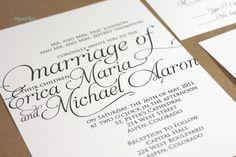 Ornate Script Wedding Invitation Package (Printable) DIY auf Etsy, 55,95€