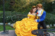 """Moment of Love by Ryoko-demon.deviantart.com on @deviantART - Belle and Prince Adam from """"Beauty and the Beast"""", uploaded by the former"""