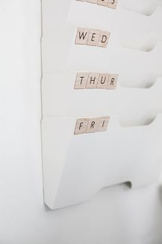Organize your to-do or inbox folders with scrabble pieces