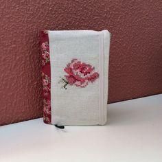 Book cover - cross stitch rose