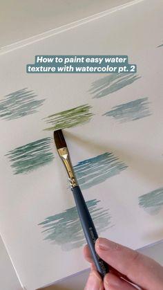 Watercolor Paintings For Beginners, Watercolor Art Lessons, Watercolor Tips, Watercolor Techniques, Watercolor Painting Tutorials, Watercolor Beginner, Simple Watercolor, Oil Painting Techniques, Watercolor Drawing