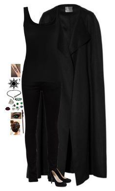 """Untitled #723"" by merlinchick on Polyvore featuring The Row, Yves Saint Laurent, Twenty, Kenneth Jay Lane, NOVICA, BlackMoon and mark."