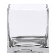 3 x 3 Cube Glass Vase