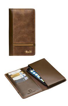 Porta Celular PCEL 1551 así de práctico, 100% cuero Renzo Costa