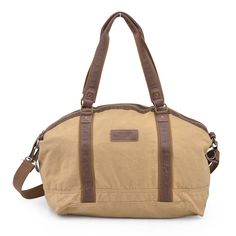 Gootium Unisex Classic Canvas Travel Duffle Bag Weekend Shoulder  HandbagKhaki     You can find more details by visiting the image link. 0c89c476038a8