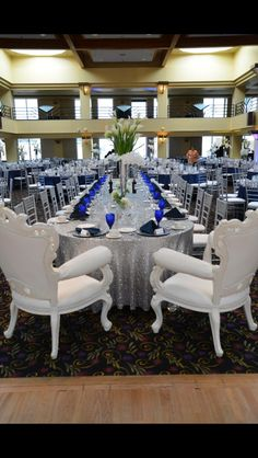 Captain's Table at Reception with His and Her Throne Chairs Wedding Reception Layout, Wedding Prep, Throne Chair, Tablescapes, Chairs, Events, Future, Home Decor, Future Tense
