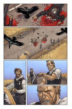 The Field #3 from Image comics. Written by Ed Brisson, drawn by Simon Roy and colours by Simon Gough.