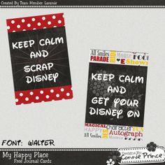 Scrapbooking TammyTags -- TT - Designer - Connie Prince, TT - Item - Journal Card, TT - Theme -Disney