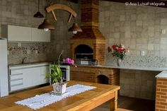 varanda Terrazzo, Barbecue, Outdoor Gardens, Architecture, Outdoor Decor, Kitchen, Table, Room, House