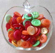 Buttons Plastic 'Tropical Flair' Loose Lot by CatsBeadKitsandMore, $3.99
