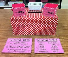 valentine note station: kids write notes to each other during february, and they are delivered at the end of each day (or week). could also work for November to have Thanksgiving notes!