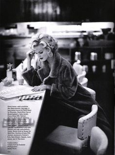 "The Terrier and Lobster: ""Star Quality"": Eva Herzigova as Marilyn Monroe by Dewey Nicks for US Vogue"