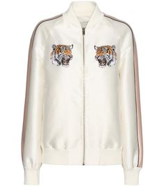 mytheresa.com - Lorinda embroidered cotton and silk-blend bomber jacket - Luxury Fashion for Women / Designer clothing, shoes, bags