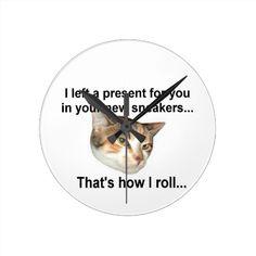 Kitten Gift Clock  #zazzle #mean #sarcastic #kitty #cat #customize http://www.zazzle.com/conquestkitty*