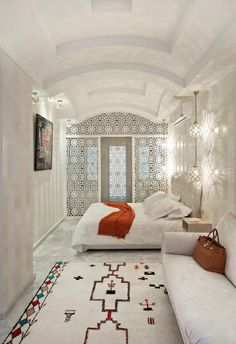 25 Coziest and Catchiest Moroccan Bedroom Decorating Inspirations moroccan decor living room Moroccan Home Decor, Moroccan Interiors, Moroccan Design, Moroccan Lanterns, Moroccan Inspired Bedroom, Moroccan Art, Bedroom Themes, Home Decor Bedroom, Bedroom Ideas
