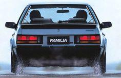 Mazda Familia Sedan (BF) '1985–87 Mazda Familia, Mazda Cars, Rear View, Maserati, Fiat, Cars And Motorcycles, Peugeot, Nissan, Porsche