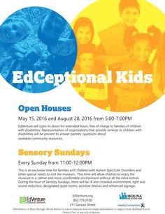 Open Houses and Sensory Sundays @edventure4kids