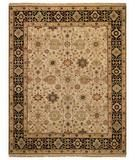RugStudio presents Capel Gloria-Kuba 43766 Beige/Ebony Hand-Knotted, Best Quality Area Rug