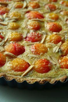Cuisine maison, d'autrefois, comme grand-mère: Recette de tarte aux prunes mirabelles à la crème frangipane