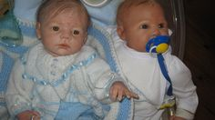 """Best Mates in the nursery...from lef....  Karlotta sculpt by Karola Wegerich and """"Haily May sculpt by Cindy-lee Ibbetson...Both reborn by Patricia Dwyer/Claridge (Mammapats Reborn  Nursery)"""