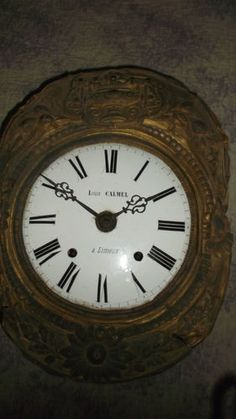 antique french enamel grandfather clock face and workings from nearby chateau, superb and rare!!!