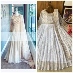 Order #DS338 Georget Anarkali Gown#1200 on WhatsApp number +919619659727 or ArtistryC.in
