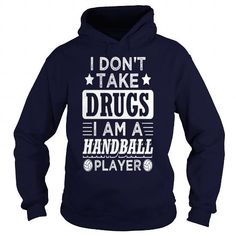 Funny Handball Handballer Shirt No Drugs - Mens Premium T-Shirt  LIMITED TIME ONLY. ORDER NOW if you like, Item Not Sold Anywhere Else. Amazing for you or gift for your family members and your friends. Thank you! #handball #shirts