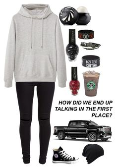 """""""How did we end up talking in the first place? You said you like my Cobain shirt"""" by xxghostlygracexx ❤ liked on Polyvore featuring New Look, MANGO MAN, Eos, Caffé and Converse"""