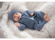 Babykleidung selbst gestrickt - Tunika, Hose,Stirnband - Wunschfee