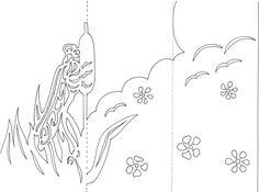 Découpez les traits noirs et pliez en trois volets selon les pointillés.