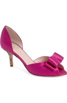 613e72b6cd98 kate spade new york  sela  glitter heel d orsay pump (Women). Pink  ShoesSatin ...