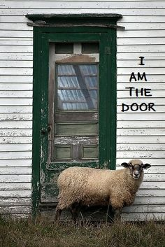 "Jesus said...""I am the door...if anyone enters through Me, he will be saved."" ~ ""No one comes to the Father except through Me.""  (John 10:9 & John 14:6)"