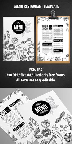 Restaurant MENU Design Idea... LOVE IT! _ _ _ Menu Restaurant Template Inspiration for Graphic Designers...