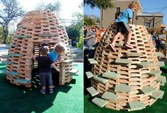 Cool Beehive Playhouse--Wondering if we could do this with all the leftover bamboo!