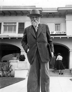 Martin Buber at Ardmore (1878 - 1965, Austrian-born Israeli Jewish philosopher best known for his philosophy of dialogue)  USA - Oklahoma, Ardmore, 1950