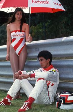 Aguri Suzuki before the 1992 Formula One Belgium Grand Prix The Effective Pictures We Offer You Abou Belgium Grand Prix, F1 Grid Girls, Brazilian Grand Prix, Pit Girls, Promo Girls, Umbrella Girl, Promotional Model, F1 Drivers, F1 Racing