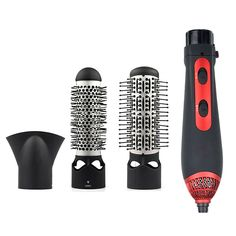 1200w 3-in-1 Multifunctional Styling Tools Hairdryer Hair Curling Straightening Comb Brush Hair Dryer hair salon combs