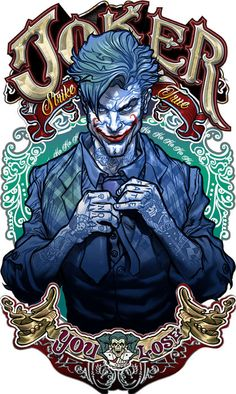 Joker : Strike True - Limited Edition Signed Metal Print by David Bircham - (2018) - W.B.
