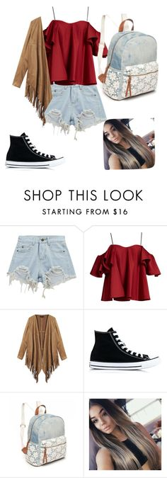 """""""First outfit"""" by cranberry-lps ❤ liked on Polyvore featuring Chicnova Fashion, Anna October, Converse and Red Camel"""
