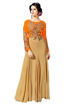Hold on to your hearts Darlings! #Glitz and #Glam #Gowns prettier than ever are here to make them #Flutter like crazy..Our Price: INR 3,779Shop Now: http://www.admyrin.com/catalog/product/view/id/23997/s/orange-and-beige-net-georgette-embroidered-gown/category/379/View Entire Collection: http://www.admyrin.com/catalogs/ornate.html#Gown #EveningGown #Party #PartyWear #WesternWear #COD