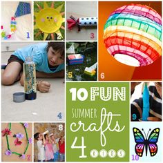 10 Fun Summer Crafts for Kids - Fun For EP Kids
