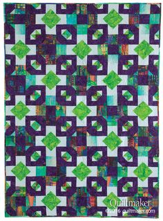 Odd Man Out quilt pattern: Bold patterns emerge when you combine the two blocks in this intriguing quilt designed by Carolyn Beam.