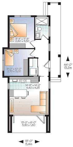 Contemporary Modern House Plan 76460 Level One