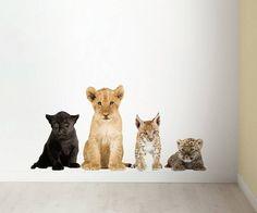 KEK Amsterdam Muursticker set vinyl multicolour bruin divers afm., Safari Friends set 1